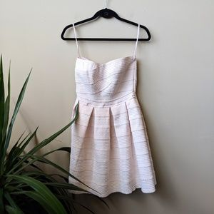 Jun & Ivy Blush Pink Strapless Bandage Mini Dress